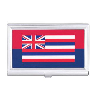 ハワイの州の旗のデザインの装飾 名刺ケース