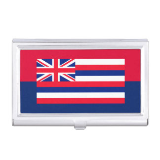 ハワイの州の旗のデザインの装飾 名刺入れ