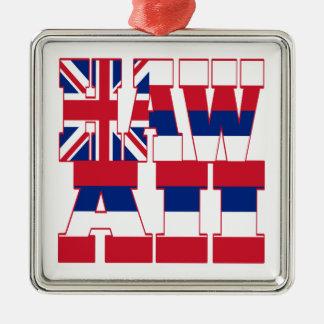 ハワイの州の旗の文字 メタルオーナメント