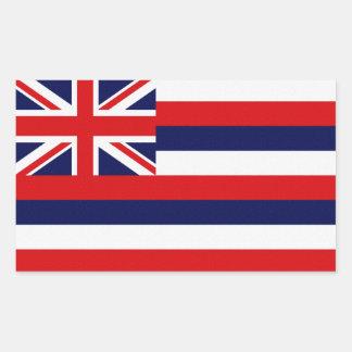ハワイの州の旗 長方形シール