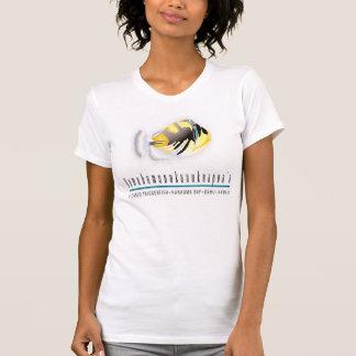 ハワイの州の魚およびハワイIsalnds Tシャツ