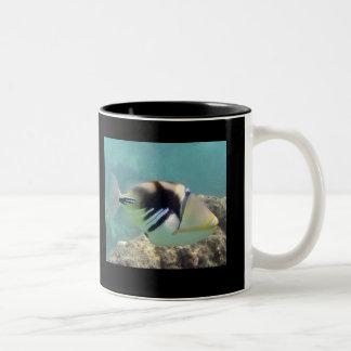 ハワイの州の魚- Humuhumunukunukuapua'a ツートーンマグカップ