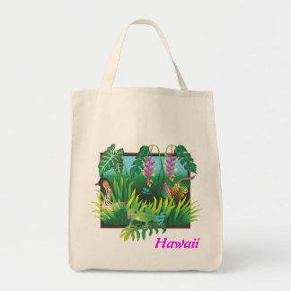 ハワイの庭の買い物袋 トートバッグ