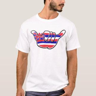 ハワイの旗のshakaの記号の島の鎖の人のティー tシャツ