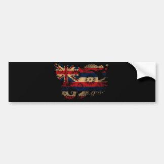 ハワイの旗 バンパーステッカー