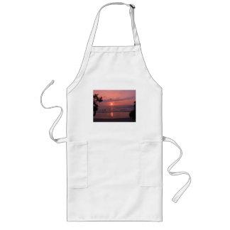 ハワイの日没のエプロン ロングエプロン