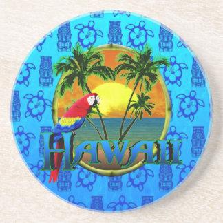 ハワイの日没の青Tiki コースター