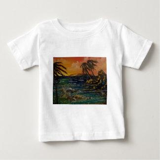 ハワイの日没 ベビーTシャツ