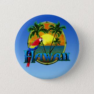ハワイの日没 缶バッジ