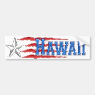 ハワイの星条旗のバンパーステッカー バンパーステッカー