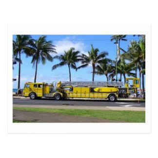 ハワイの普通消防車の郵便はがき ポストカード