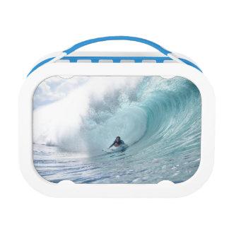 ハワイの波をサーフする波の伝説ロッシェルBallard ランチボックス