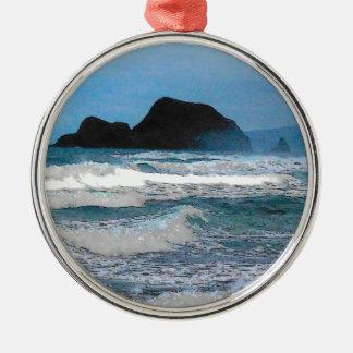 ハワイの海岸の青空 メタルオーナメント