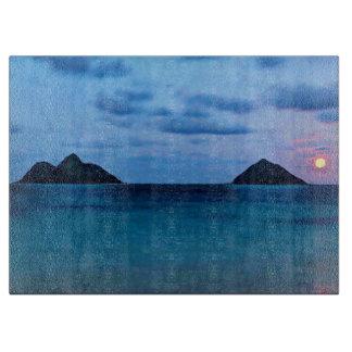 ハワイの満月の島の台所まな板 カッティングボード