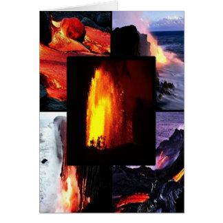 ハワイの溶岩の火山 カード