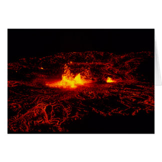 ハワイの溶岩流 カード