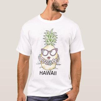 ハワイの漫画のパイナップルTシャツ Tシャツ