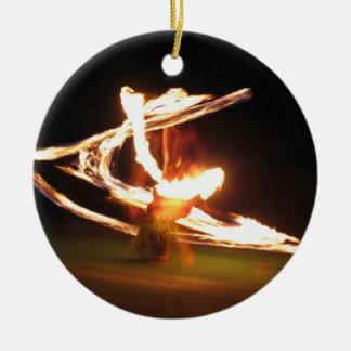 ハワイの火のダンス セラミックオーナメント