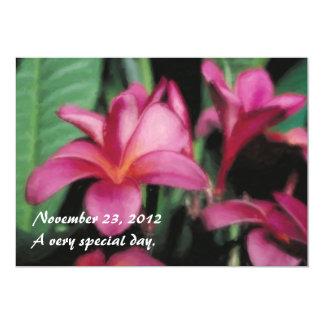 ハワイの熱帯プルメリアの招待状 カード