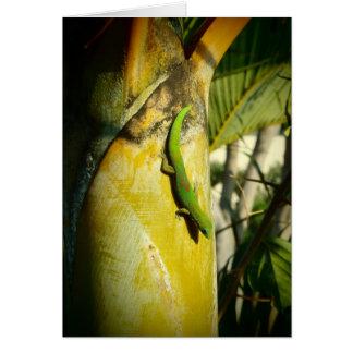 ハワイの熱帯木のヤモリの挨拶状 カード