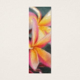 ハワイの熱帯花のしおり スキニー名刺