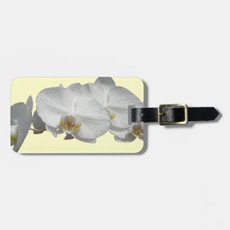 ハワイの白の蘭 ラゲッジタグ