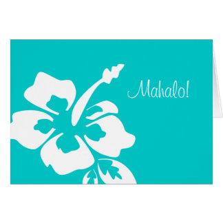 ハワイの結婚式のサンキューカードのハイビスカス カード