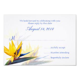ハワイの結婚式の応答カード極楽鳥 カード