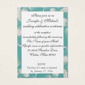 ハワイの結婚披露宴のエンクロージャのターコイズの植物相 名刺