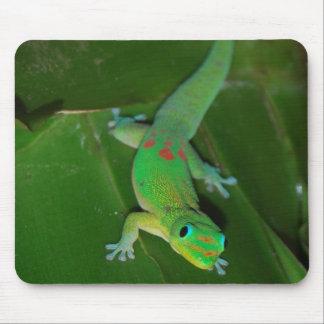 ハワイの緑のヤモリ マウスパッド