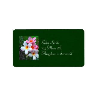 ハワイの花の住所シール 宛名ラベル