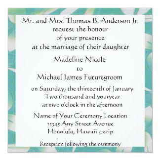 ハワイの花の結婚式 カード