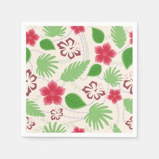 ハワイの花パターンが付いているナプキン スタンダードカクテルナプキン