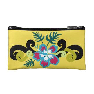 ハワイの花柄 コスメティックバッグ