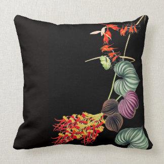 ハワイの蘭によってはジャングルの葉の装飾用クッションが開花します クッション