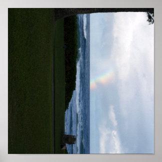 ハワイの虹のビーチの海岸ポスター ポスター