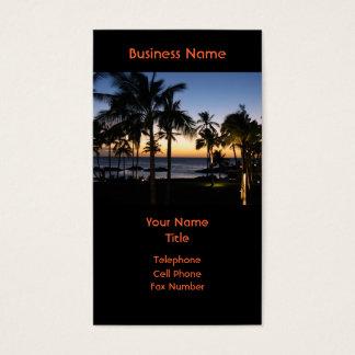 ハワイの行先の名刺 名刺