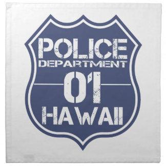 ハワイの警察の盾01 ナプキンクロス