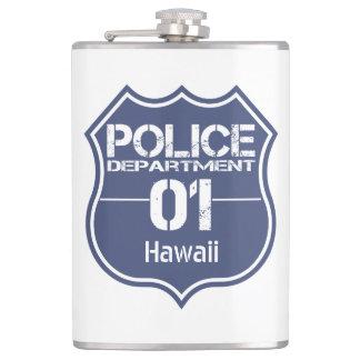 ハワイの警察の盾01 フラスク