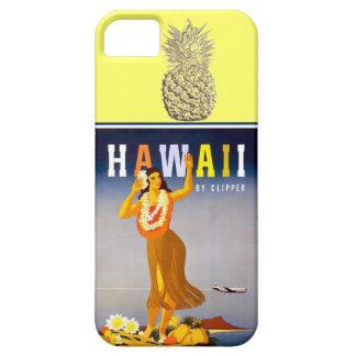 ハワイの金ゴールドのパイナップルフラのダンサー iPhone SE/5/5s ケース