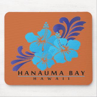 ハワイの青いハイビスカスの花 マウスパッド