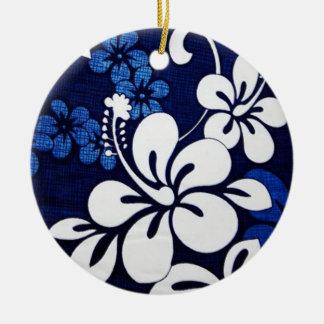 ハワイの青い花 セラミックオーナメント