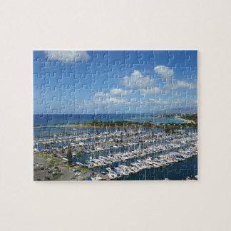 ハワイの青空そしてマリーナ ジグソーパズル