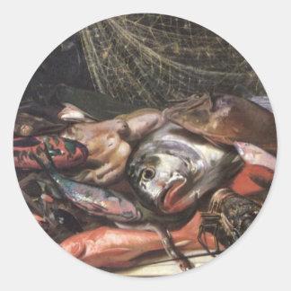 ハワイの魚、キャンバスの油の勉強 ラウンドシール