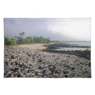 ハワイの黒い砂のビーチ ランチョンマット