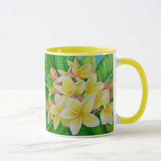 ハワイのFrangipani マグカップ