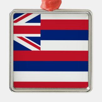 ハワイのKa Hae Hawaiʻiの旗 メタルオーナメント