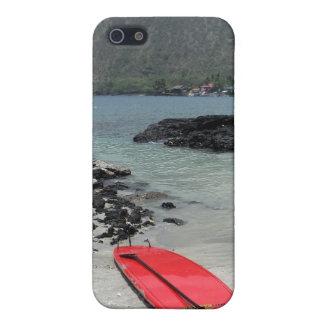 ハワイのpaddleboardのビーチ場面iphoneの場合 iPhone 5 case