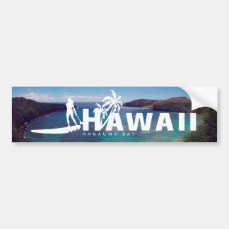 ハワイはかいおよびHanauma湾を立てます バンパーステッカー