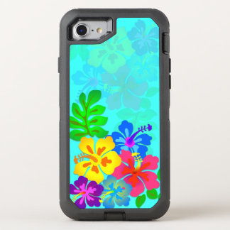 ハワイアンによってはハイビスカスの葉の水が開花します オッターボックスディフェンダーiPhone 8/7 ケース